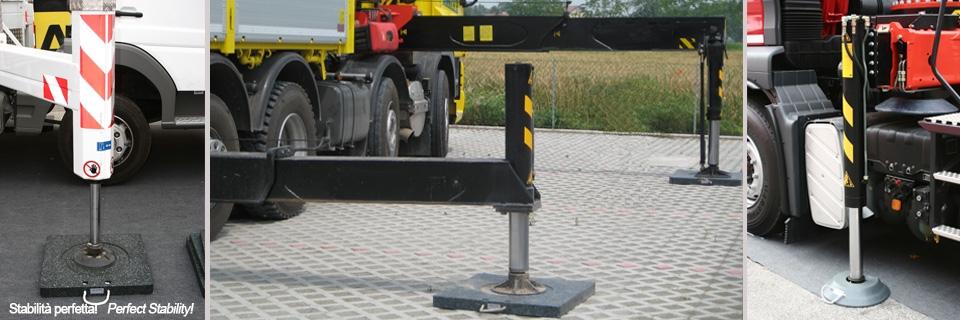 Stabilne podpory rozsuwane hydraulicznie